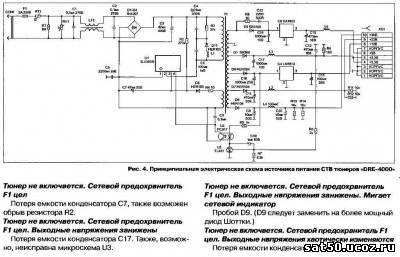 схема блока питания ресивера gs-8300